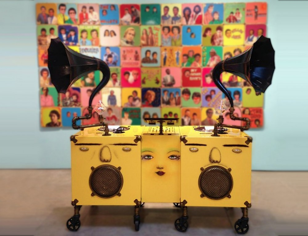 "Os Gemeos Gramophone – ""Silence Of The Music"" Exhibit"